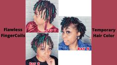 How to get Flawless FingerCoils with Temporary Hair Color for Natural Hair Natural Hair Tutorials, Natural Hair Styles, Finger Coils, Type 4 Hair, Temporary Hair Color, Dreadlocks, How To Get, Beauty, Dreads