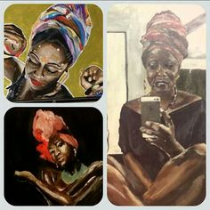 National Head Wrap Day Art by:  Lujar Art-llc