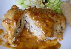 chicken stuffed with goat cheese and herbs
