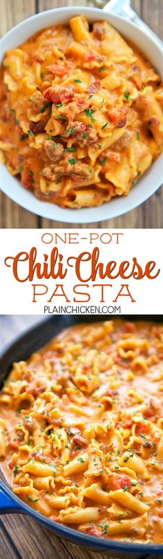 One Pot Chili Cheese Pasta