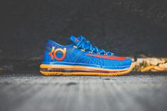 sports shoes 94846 435be Here is the Nike KD VI Elite Edition - Team Collection in the Photo BlueTeam  Orange-Atomic Mango colorway.