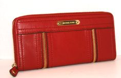 Michael Kors Moxley Continental Wallet in Dark Red / NWT / SALE
