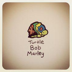 Turtle Bob Marley #turtleadayjune - @turtlewayne- #webstagram