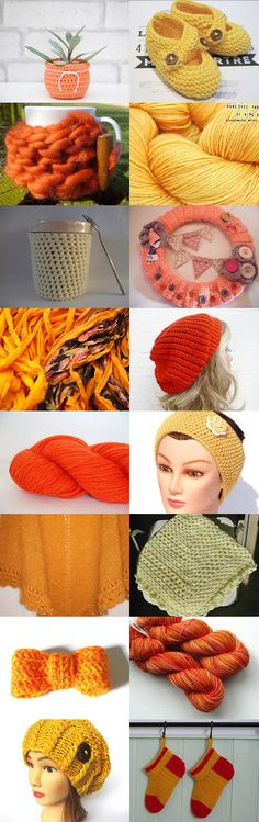 Oranges and Lemons by Bebby on Etsy--Pinned with TreasuryPin.com Oranges And Lemons, Challenge, Crochet Hats, Etsy, Tricot, Knitting Hats