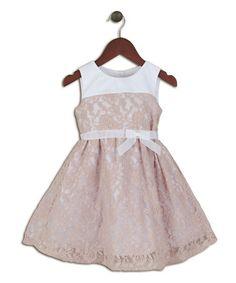 Look at this #zulilyfind! Rose Lace Dress - Infant, Toddler & Girls by Joe-Ella #zulilyfinds