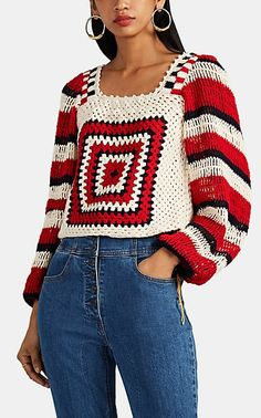 We Adore: The Beso Cotton Crochet Sweater from Ulla Johnson at Barneys New York