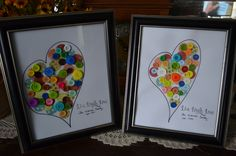 button hearts...