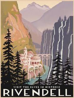 Steve Thomas [Illustration]: Fantasy travel posters