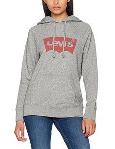 Levi's Graphic Sport Pull Femme Gris (Sportswear Hoodie Batwing Smokestack HTR X-Small Sweat Shirt, Outfits Damen, Rehearsal Dress, Classy Dress, Pulls, Hooded Jacket, Sportswear, Mens Fashion, Moda Masculina