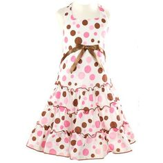 Girls Clothes PINK DOTS Summer Dress BONNIE JEAN Boutique Spring Girl ...