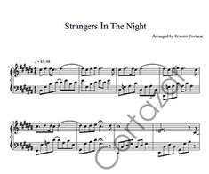 Strangers In The Night - Piano Sheet Music now available on ErnestoCortazar.net Free Music Streaming, Online Music Stores, Transcription, Piano Sheet Music, Album, Night, Words, Musica, Piano Score