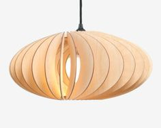 AION wood lamp birch natural by IUMIDESIGN on Etsy