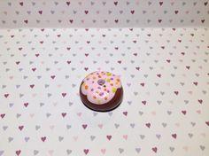 Cute Chocolate Doughnut With Sprinkles Diy Clay, Clay Charms, Clay Ideas, Cute Food, Doughnut, Sprinkles, Charmed, Chocolate, Clay