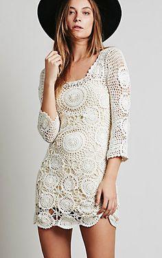 crochet mini dress | coachella fashion