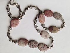 Unique 2 Piece Natural Stone Necklace and Bracelet by ViolaBloom