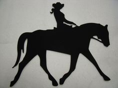Cheyenne on the Trail - laser cut silhouette is only one of many cowboy/western precut fusible appliques available on the website