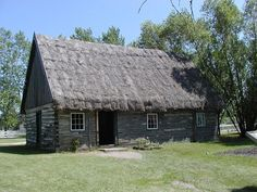 Mennonite house built by Russian Mennonites in Mennonite Heritage Museum, Steinbach, Manitoba. Heritage Museum, My Heritage, Tree Roots, German Recipes, Family Genealogy, House Built, Amish, Ancestry, Family History