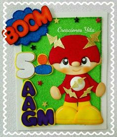 Trbajo en fomix Foam Crafts, Diy And Crafts, Crafts For Kids, School Book Covers, Kids Christmas, Christmas Ornaments, Plate, Doodles, Diy Projects