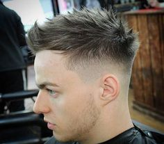 spiky hairstyle for men - BY UNTRIED.