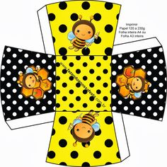 Let's Party - Bee - Onofer-Köteles Zsuzsánna - Picasa-Webalben Paper Toys, Paper Crafts, Comic Party, Beatles Party, Bee Free, Oh My Fiesta, Bee Boxes, Bee Party, Bee Design