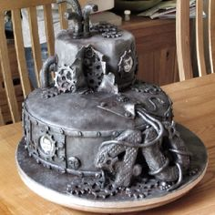 #Steampunk birthday cake, completely edible
