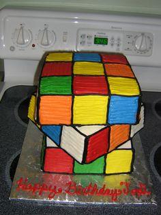 rubix cube cake cool cakes Pinterest Cake Birthdays and