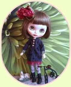 Blythe doll Victorian dress & long hosiery