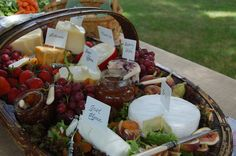 Cheese Tray - love the basket. I think some homemade strawberry preserves would be great with this.