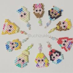 Disney Princess charms perler beads by uchizukku