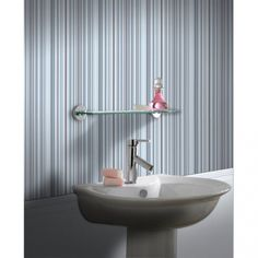 Contour Barcode Linear Wallpaper in Blue A