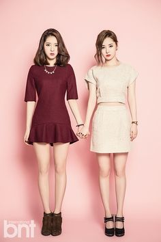 Dal★Shabet's Ah Young and Woo Hee bnt International February 2014