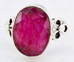 Royal Ruby Gemstone Ring Solid 925 Sterling Silver Jewelry Size 6.5 IR23890