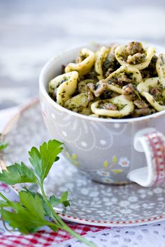 Orecchietta with sausage and Tuscan Kale Pesto ... Click image to see the best #Recip Roundup for 2013!