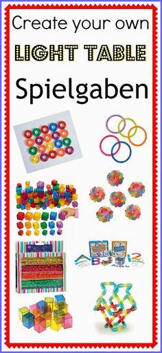 Create your own Light Table Spielgaben