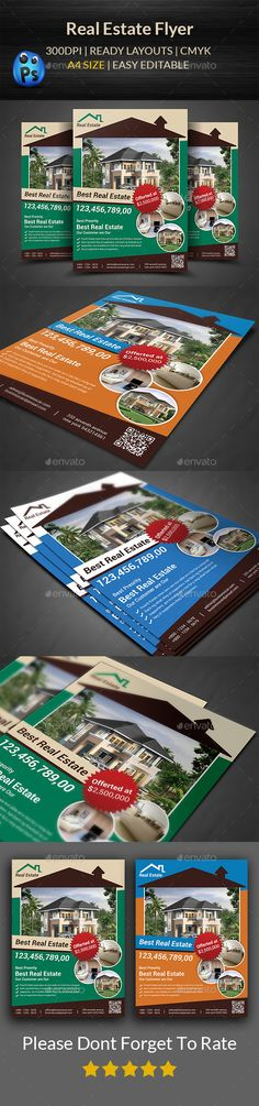 Flyer Template Bundle Flyer template, Real estate flyers and - for rent flyer template