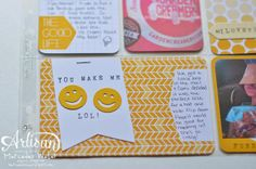 Stampin Up Project Life Artisan Wednesday Wow | Happy Faces created with the PL corner punch! My 4 year old figured that out!