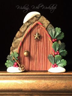 Polymer Clay Holly Door by missfinearts on DeviantArt