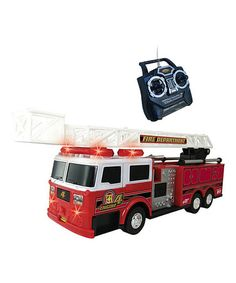 Love this Red Light-Up Remote Control Firetruck on #zulily! #zulilyfinds $18