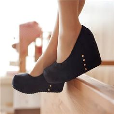 Fashion Stretch Matter Upper Women Close Toe Wedges Shoes Wedges- ericdress.com 10637921
