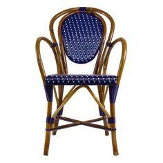 French bistro chair rattan maison midi wicker patio furniture cafe