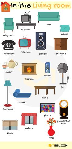 Rooms in a House Vocabulary in English Learn English Vocabulary: Rooms in a House – ESL Buzz English Time, Learn English Words, English Study, English House, Learn English Speaking, House Vocabulary, English Lessons For Kids, English Writing Skills, English Vocabulary Words