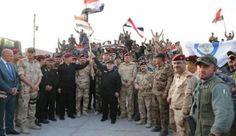 """شبکه الکوثر اهتزاز پرچم عراق بر فراز گذرگاه مرزی """"حصیبه"""" در مرز با سوریه: «حیدر العبادی» نخست وزیر عراق پرچم این کشور را در بر فراز گذرگاه…"""