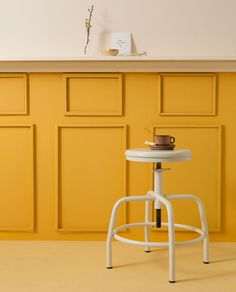 DIY: gele lambrisering | DIY: yellow lambrisering