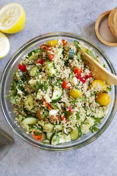 Summer Vegetable Quinoa Tabbouleh   girlversusdough.com @girlversusdough
