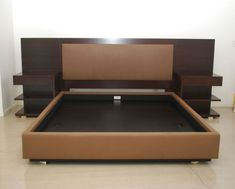 Modern King Platform Bed Frame Built In Side Table And Height Headboard With King Size Bed Frames Plus King Bed Headboard King Size Bed Headboard, King Size Bed Frame, Bed Frame And Headboard, Headboards For Beds, Bed Frames, Headboard Ideas, King Size Bedding, Wooden Headboards, Homemade Headboards