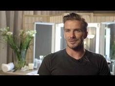 On set with David Beckham for Sky