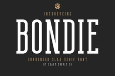 Ad: Bondie - Condensed Slab Serif Font by Craft Supply Co. on Introducing New Font : Bondie - Condensed Slab Serif Font --- Bondie - Condensed Slab Serif Font is an Elegant Condensed - Condensed Slab Alphabet Design, Just Say Hello, Slab Serif Fonts, Envelope Lettering, Hand Lettering, Wedding Fonts, Wedding Cards, Diy Wedding, Comic