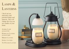 Our patented lamps and lanterns will warm any candle and leave your home smelling delicious!