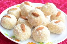 Nariyal Ke Laddu, sweets made of coconut.