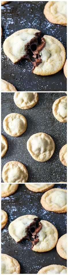 Nutella Stuffed Cookies - Old fashioned soft and chewy sugar cookies stuffed with creamy Nutella. It's as delicious as it sounds!: